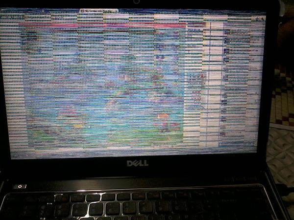 màn hình máy tính nháy liên tục