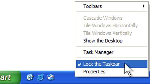 thay đổi vị trí thanh Taskbar Win 7