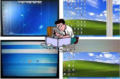 màn hình máy tính bị hư